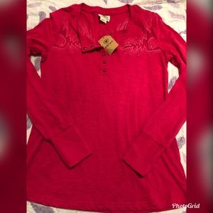 Women's ariat long sleeve hot pink top size large